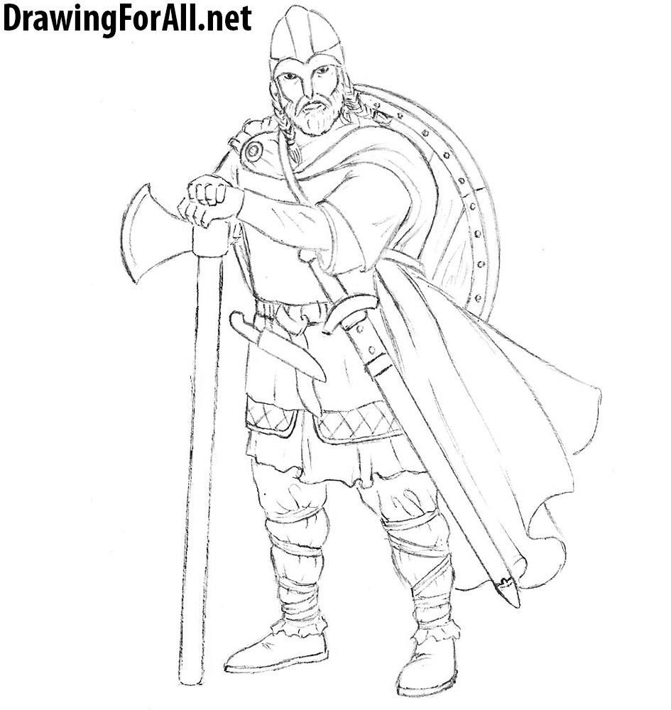 945x1000 Drawing Of A Viking How To Draw A Realistic Viking Drawingforall