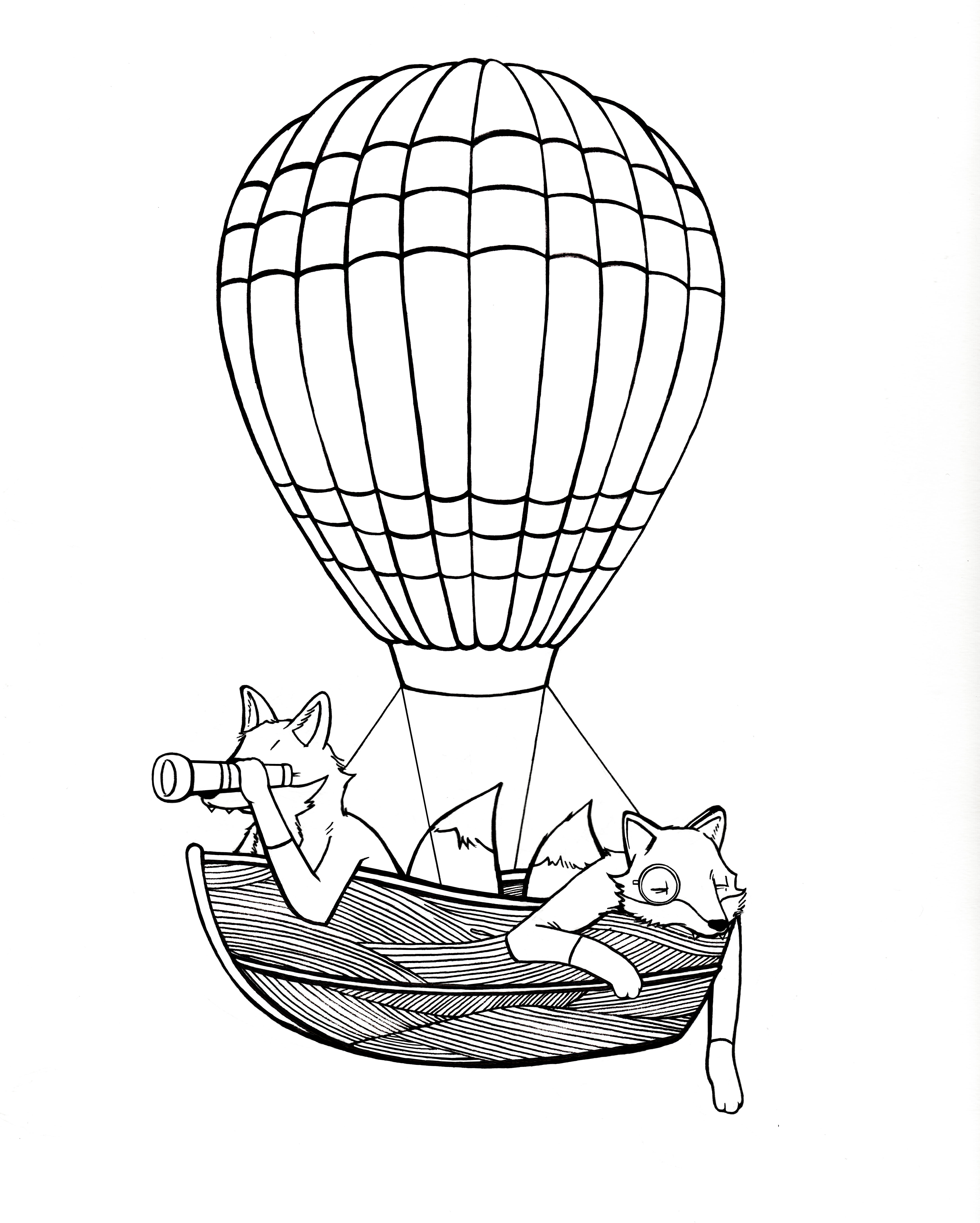 4328x5400 Hot Air Boat Loon By Steff Bomb Arts And Illustration Things