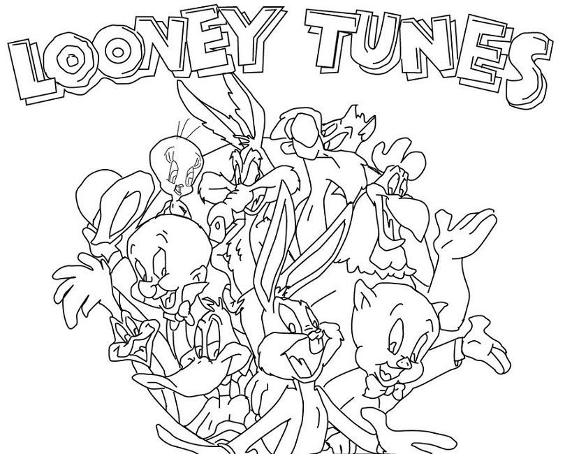 819x650 Looney Tunes Coloring Pages Online Cartoon Looney