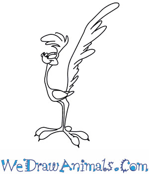 300x350 How To Draw The Road Runner From Looney Tunes