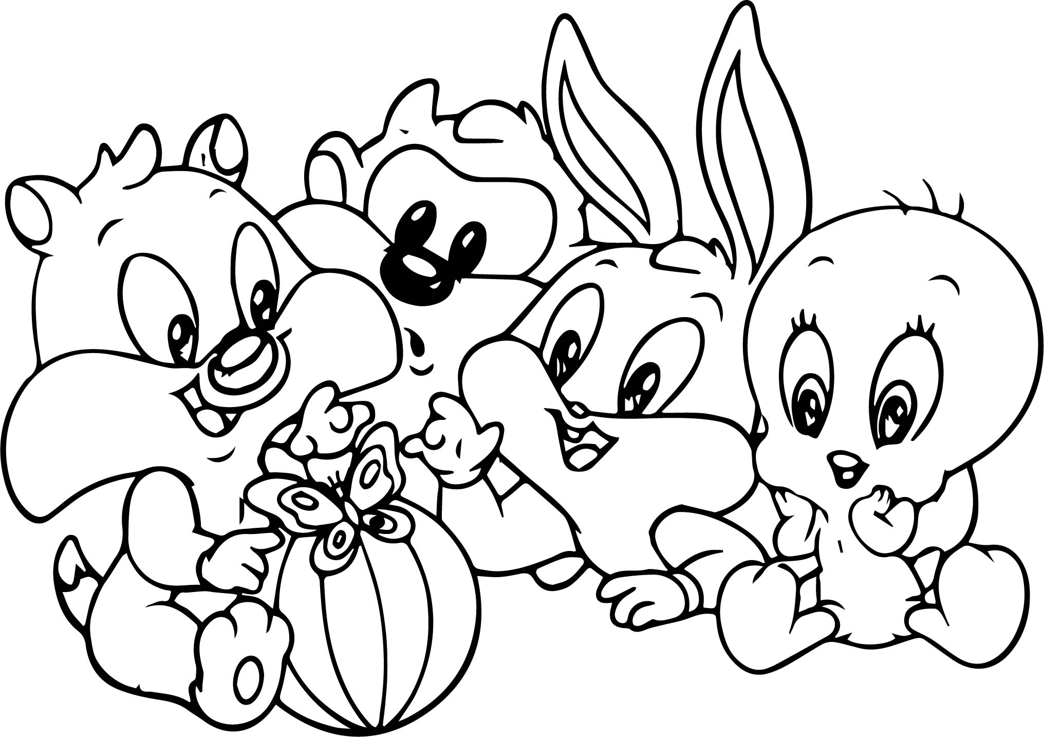 2032x1434 Baby Bugs Bunny Looney Tunes Cartoon Coloring Page Wecoloringpage