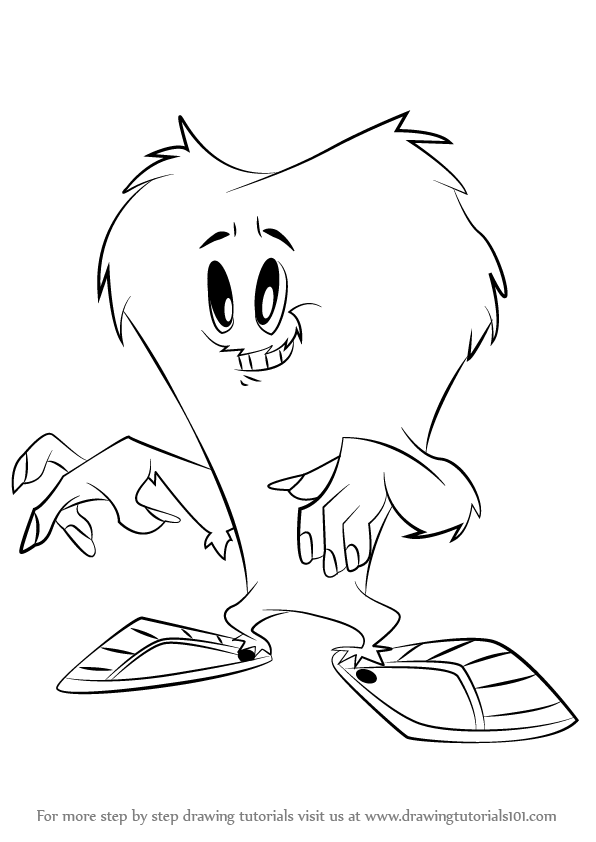 596x842 Learn How To Draw Gossamer From Looney Tunes (Looney Tunes) Step