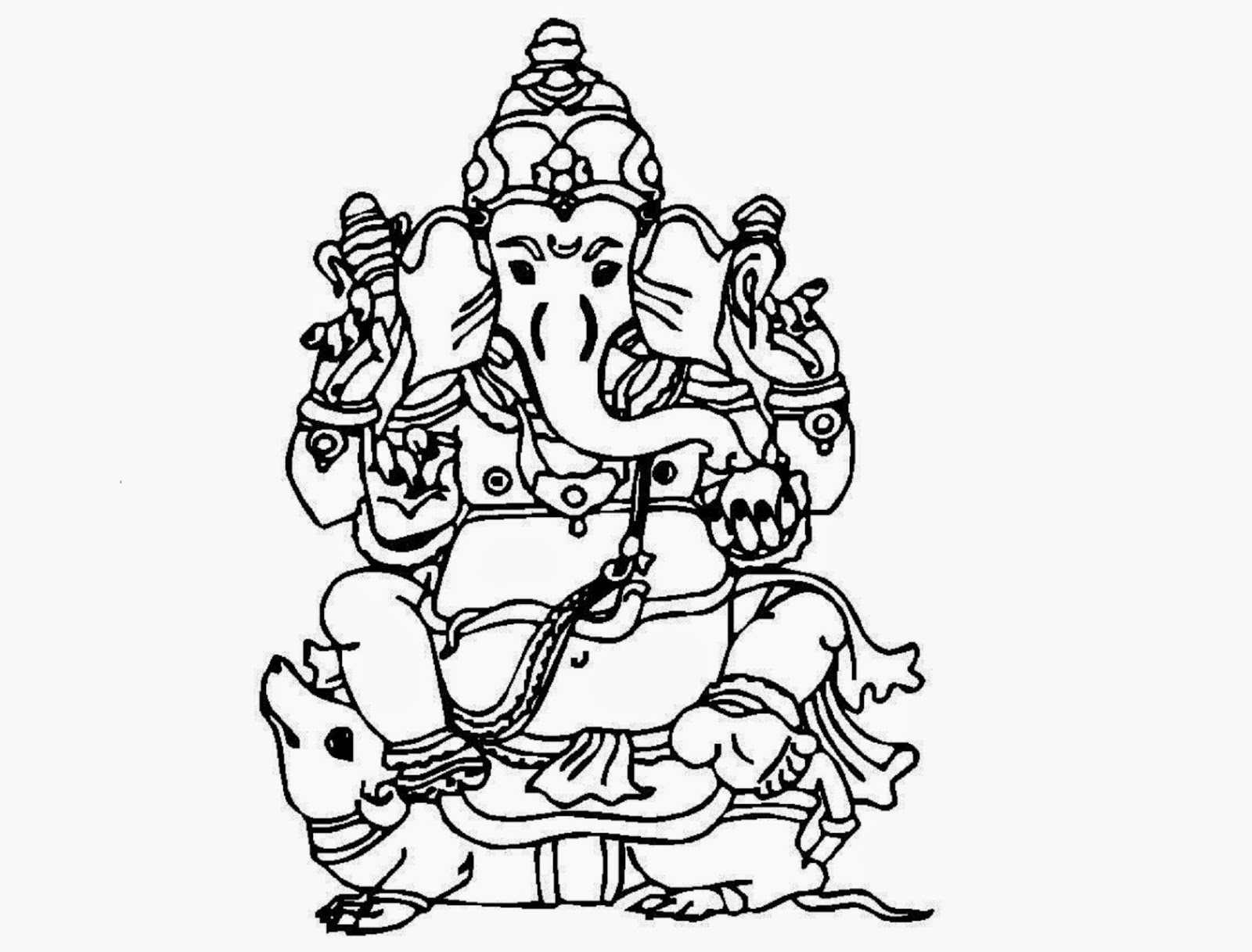 Lord Ganesh Drawing at GetDrawings.com | Free for personal use Lord ...