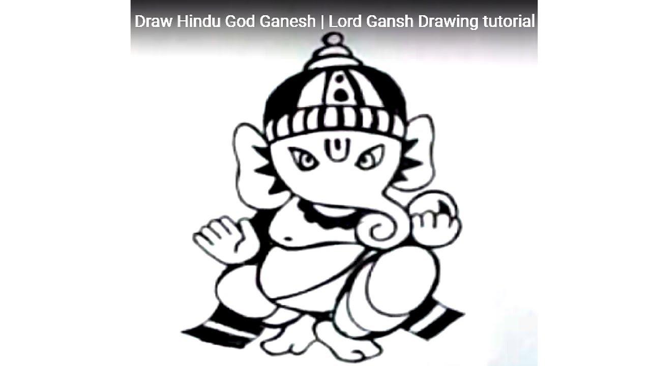 1280x720 How To Draw Ganesha How To Draw Hindu God Ganesha