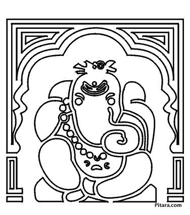 376x426 Lord Ganesha Coloring Pages Pitara Kids Network