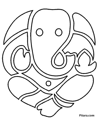349x426 Lord Ganesha Coloring Pages For Kids Pitara Kids Network