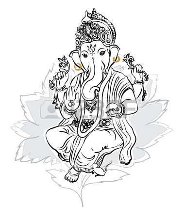 379x450 Lord Ganesha Drawing Vector Royalty Free Cliparts, Vectors,