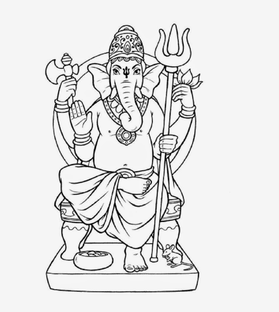 946x1057 Lord Ganesha Sketch Drawing Skill