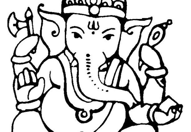 613x425 Ganpati Drawing Lord Ganesha Drawing Pictures Images Photos My