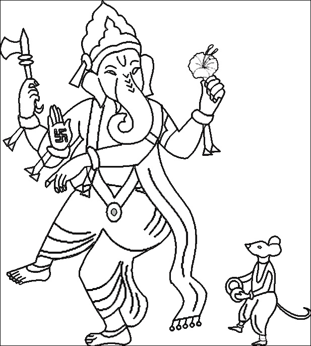 617x686 Ganpati Images To Draw Coloring Pages