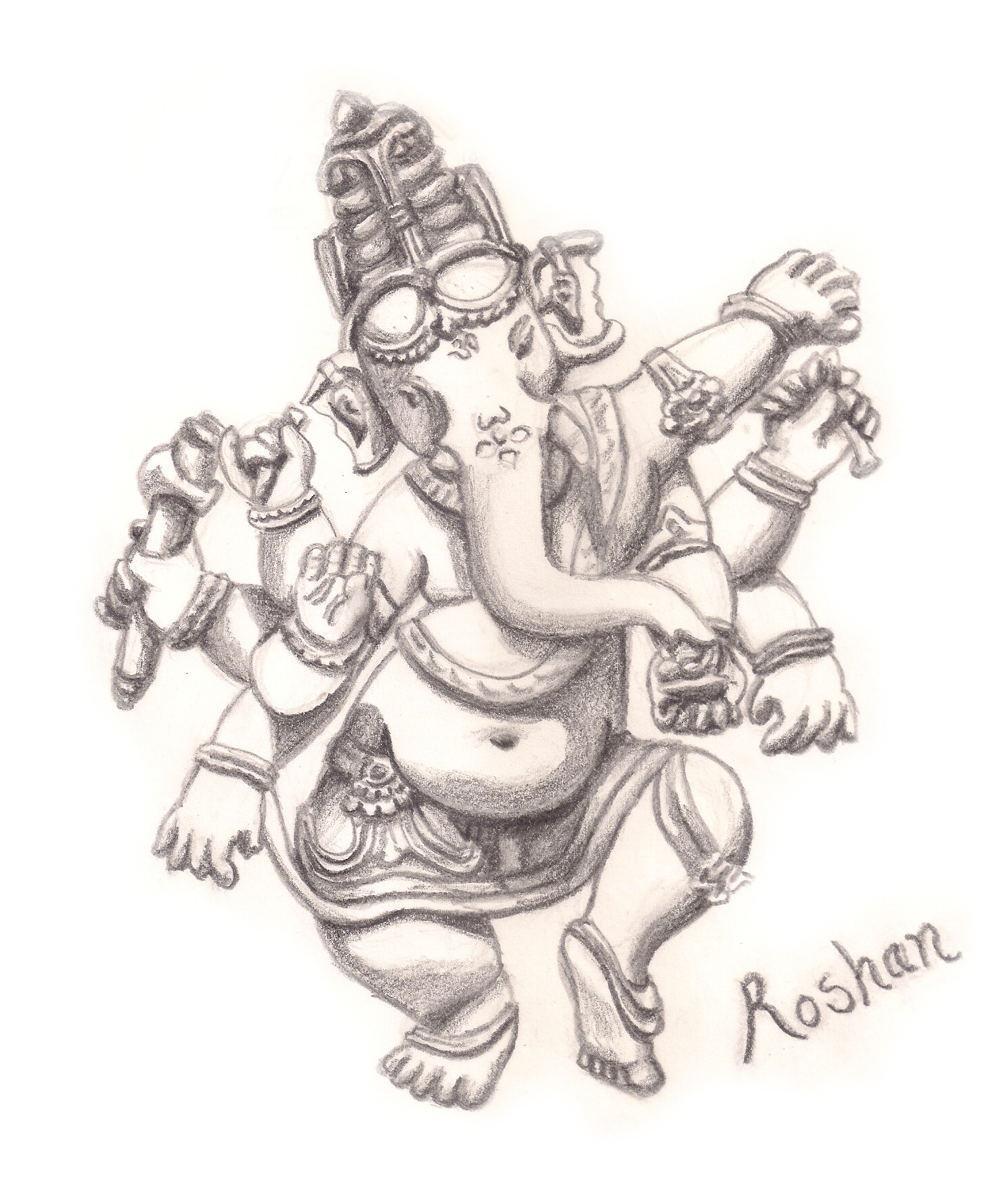 1479x1779 Lord Ganesh Pencil Dketch And Lins Photo Lord Ganesh Sketch Free