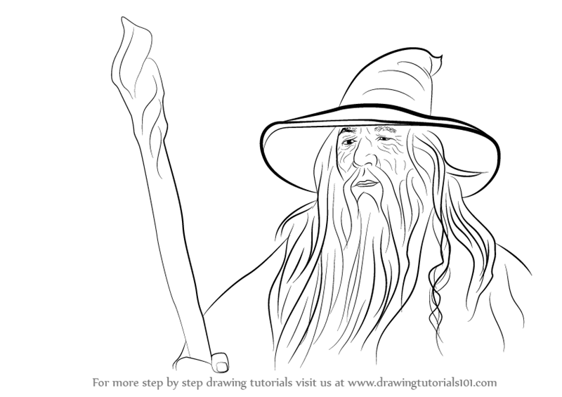 800x565 Learn How To Draw Gandalf From Lord Rings (Lord