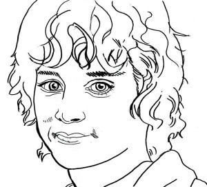 300x272 The Lord The Rings Character Gollum Coloring Page The Lord