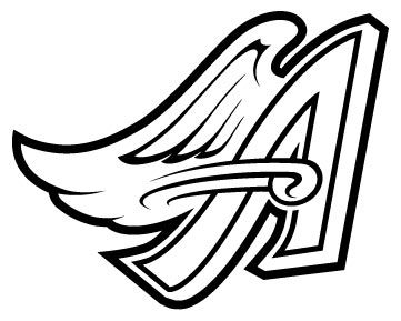 361x289 Los Angeles Angels Logo Decal