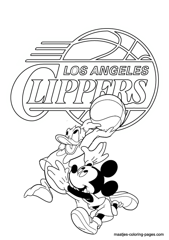 595x842 Los Angeles Clippers Coloring Pages