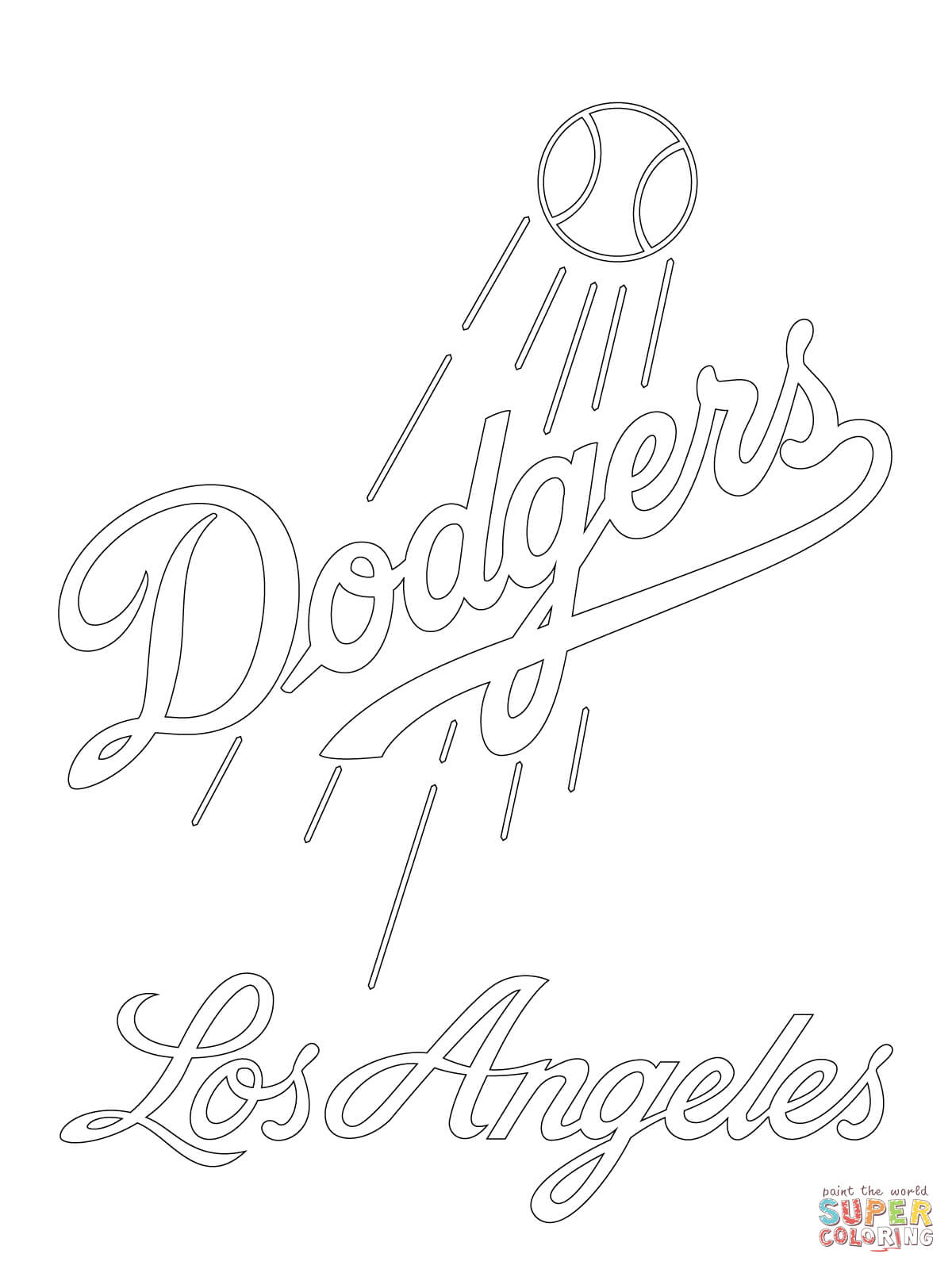 1200x1600 Los Angeles Dodgers Logo Coloring Page Free Printable Coloring Pages