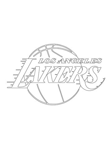 360x480 Los Angeles Lakers Logo Coloring Page Free Printable Coloring Pages