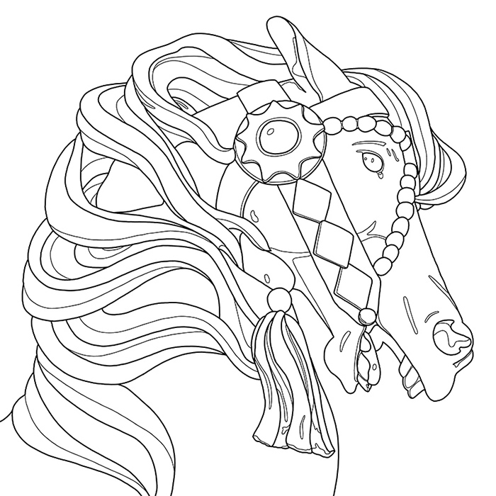 700x700 Carousel A Coloring Jones Coloring Book For Adults. Buy It