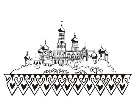 450x374 Los Angeles, Ca Skyline. Black And White Royalty Free Cliparts