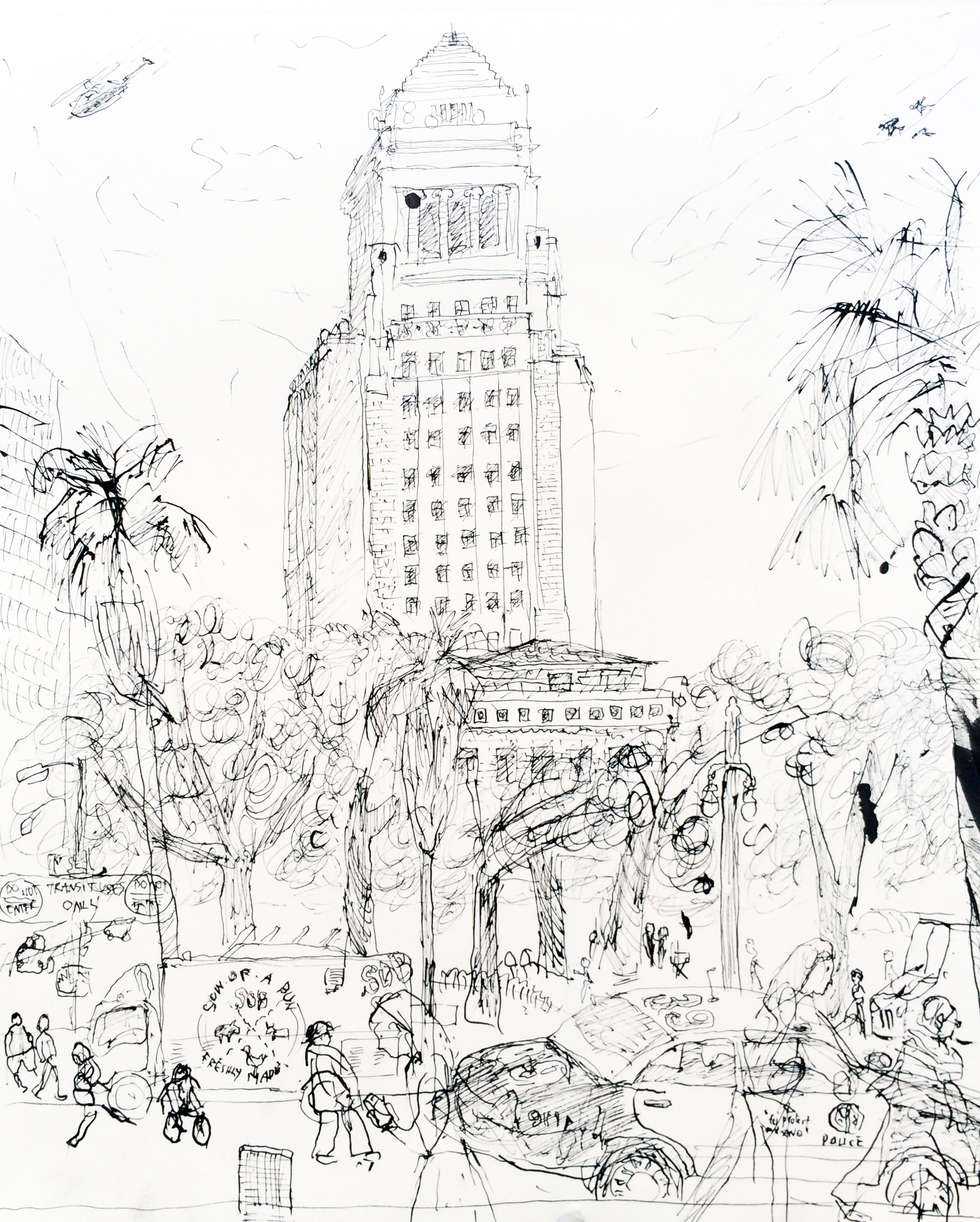2076x2587 Los Angeles City Hall,california. David Clemeshasan Diego
