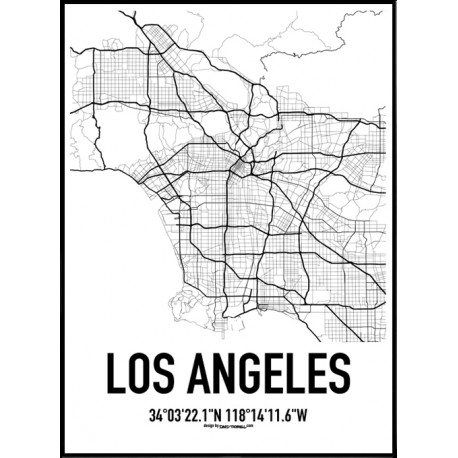 458x458 Los Angeles Map Poster. Find Your Posters