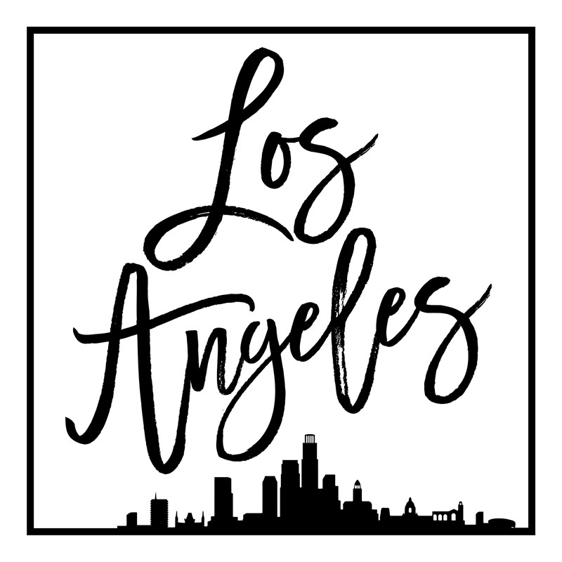 800x800 Los Angeles Skyline Posters By Lovehatelive Redbubble