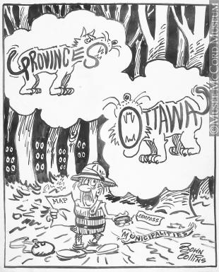 310x385 M965.199.6697 Lost In The Tax Jungle. Drawing, Cartoon John