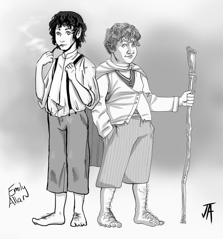 862x926 Frodo And Sam Lotr (Mash Up) By Comicfreak41691