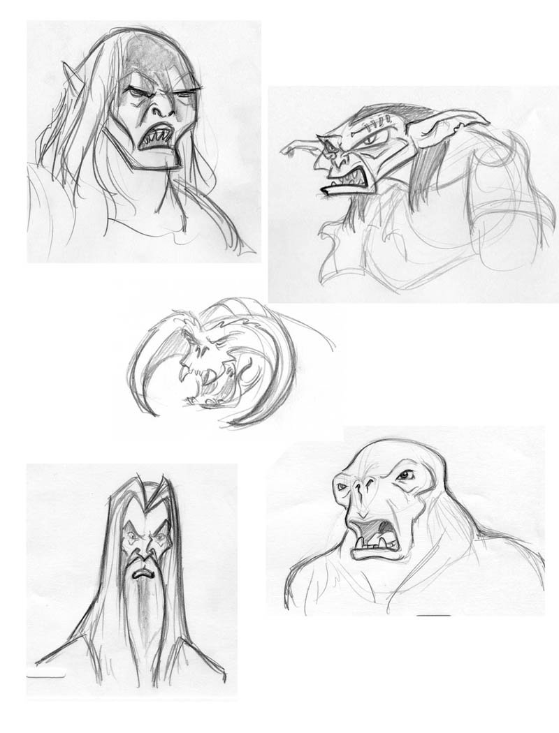 800x1050 Lotr Face Sketches By Brianmainolfi