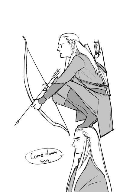 450x636 Legolas And Thranduil By Potter Whovian Lotr