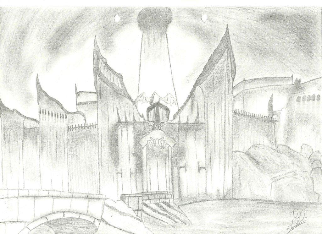1024x745 Minas Morgul Lotr By Manoartist1996