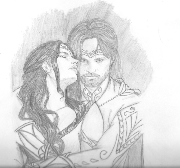 600x562 Council Of Elrond Lotr News Amp Information Aragorn And Arwen By