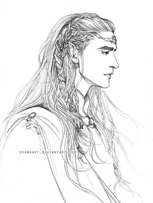 500x662 Elu Thingol By Evankart Drawing Concept Tolkien