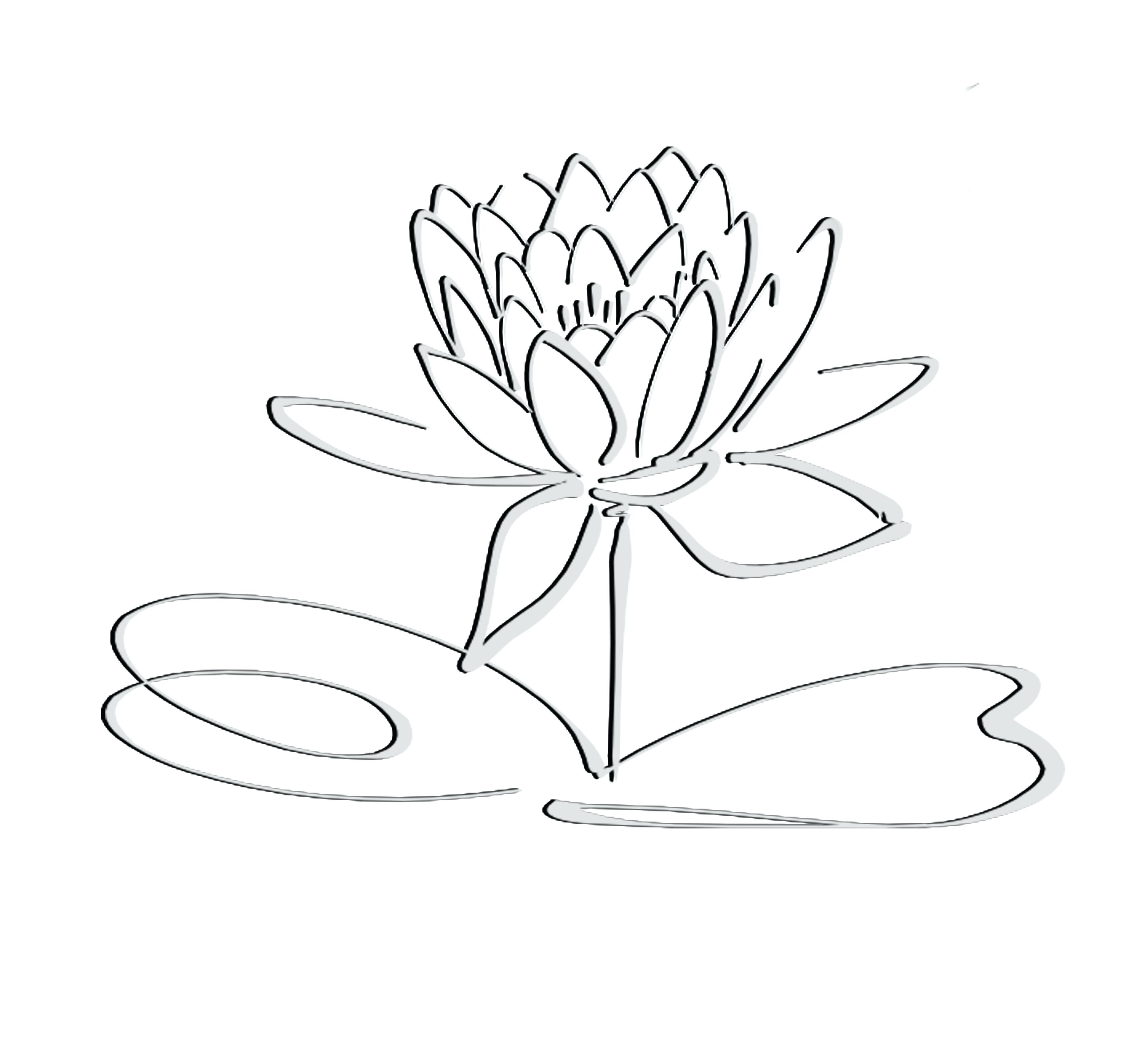 Lotus Drawing Images at GetDrawings.com | Free for personal use ...