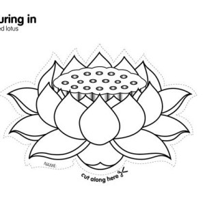 300x300 Lotus Flower Coloring Page Indian Drawing Images At Getdrawings Free For Personal