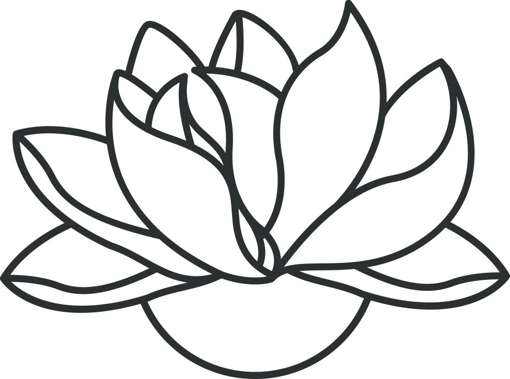 1024x761 Lotus Flower Outline Drawing Lotus Flower Drawing Outline Lotus