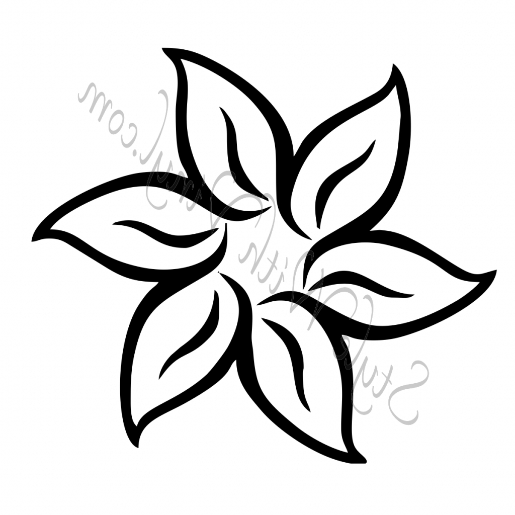 1024x1024 Drawing Of A Flower Lotus Flower Pencil Drawing Simple Flower