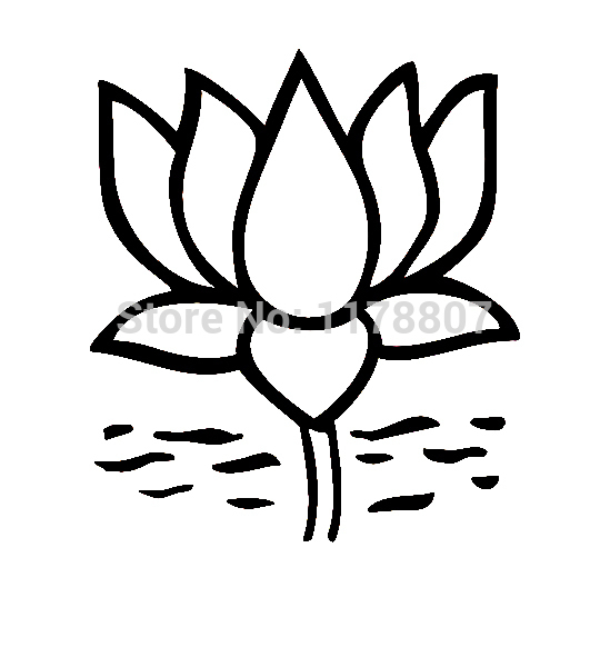 Lotus Flower Drawing Step By Step