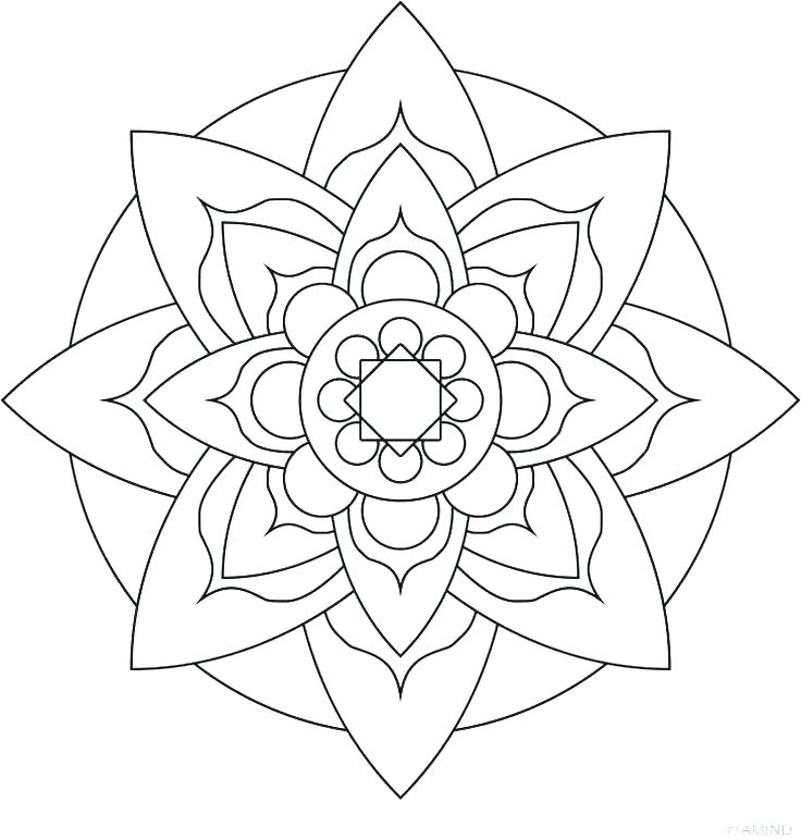 736x771 Easy Flower Coloring Pages Simple Flower Coloring Pages Flower