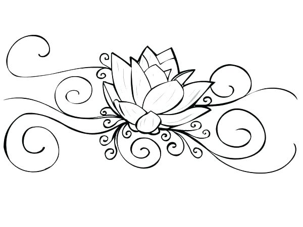 600x450 Tattoo Coloring Pages Printable Lotus Flower Tattoo Coloring Pages