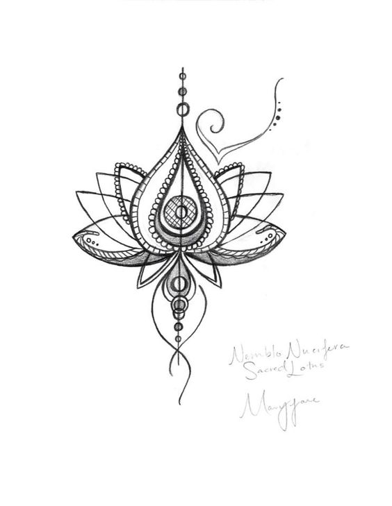 Lotus flower drawing tattoo at getdrawings free for personal 564x729 unique abstract lotus flower tattoo design mightylinksfo