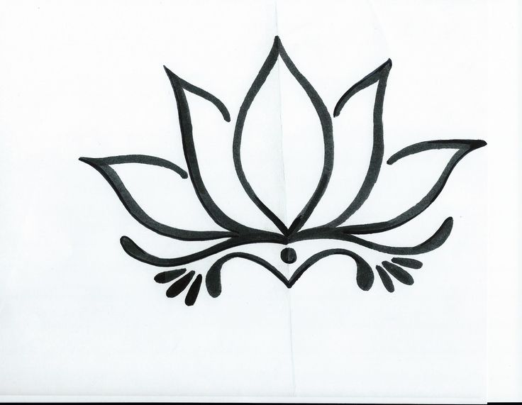 Lotus Flower Line Drawing At Getdrawings Free For Personal Use