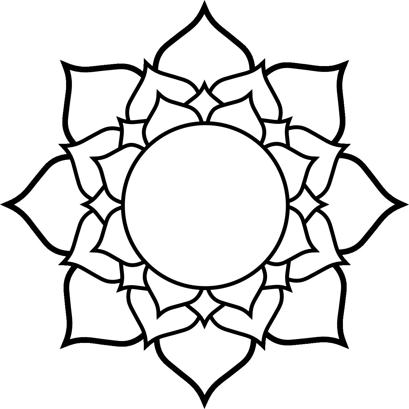 1331x1331 Gallery White Lotus Drawing,