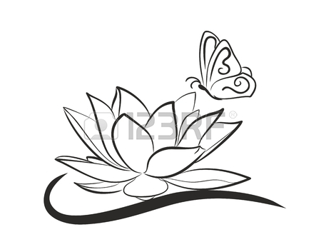 450x353 Lotus Drawing Stock Photos. Royalty Free Business Images