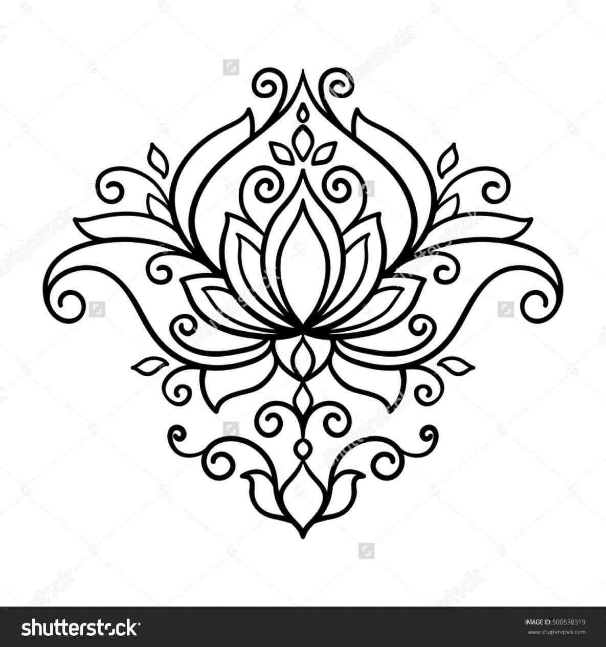 1185x1264 Flower Lotus Drawing