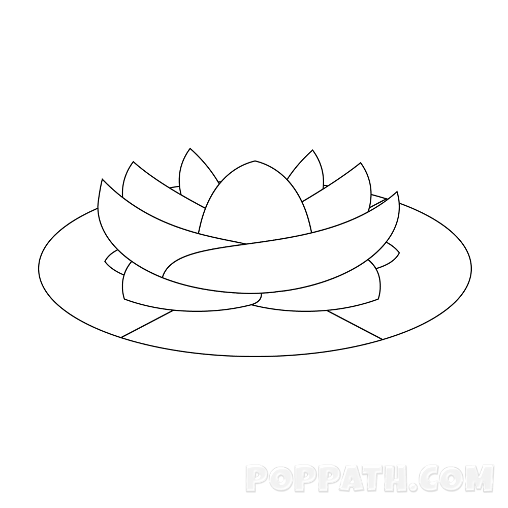 1000x1000 How To Draw A Lotus Flower Pop Path