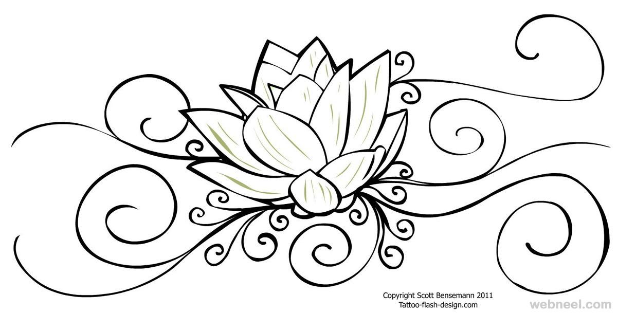 1200x609 Flower Drawing Lotus 25