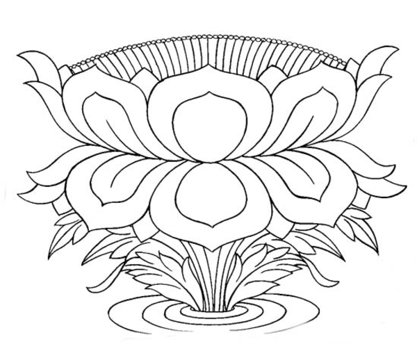 Lotus line drawing at getdrawings free for personal use lotus 600x495 sacred lotus line art free images mightylinksfo