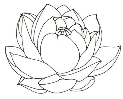400x322 Lotus Flower Coloring Page Pages Flowers