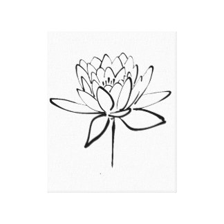 324x324 Lotus Flower Drawing Art Amp Framed Artwork Zazzle